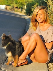 Kennedy walking the dog - Erotic and nude pussy pics at GirlSoftcore.com