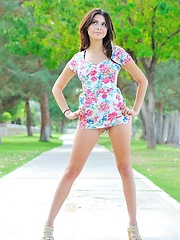Eliana and the flowery dress - Erotic and nude pussy pics at GirlSoftcore.com