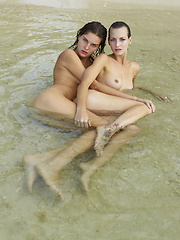 Two girls, having sex in the sea! You're dream is coming true! - Erotic and nude pussy pics at GirlSoftcore.com