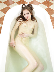 Mirabell is having fun while take a bath. Why dont you take a look? - Erotic and nude pussy pics at GirlSoftcore.com
