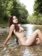 Fresh as well cold water in untouched nature offer specific taste of the forbidden fruit of sensuality. Sexy brunette cooling hot body. - Erotic and nude pussy pics at GirlSoftcore.com