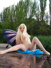 When nobody is on the lake shore, this stunning blonde takes advantage over natural beauties as her loveliness take over watchers breath. - Erotic and nude pussy pics at GirlSoftcore.com