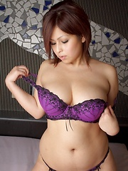 Big titted asian wearing sexy purple lingerie - Erotic and nude pussy pics at GirlSoftcore.com