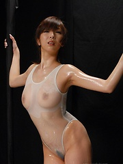 Sexy japanese girl Hinano likes oil - Erotic and nude pussy pics at GirlSoftcore.com