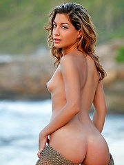 On The Rocks - Erotic and nude pussy pics at GirlSoftcore.com