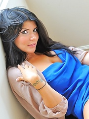 Romi is a goddess in blue - Erotic and nude pussy pics at GirlSoftcore.com