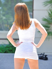 Leanne white dress strip - Erotic and nude pussy pics at GirlSoftcore.com