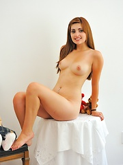 Bedroom frolics with Laleh - Erotic and nude pussy pics at GirlSoftcore.com