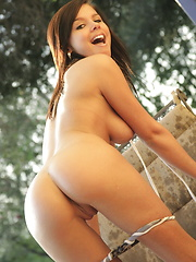 A wet Destiny Moody knows how to work a long hose - Erotic and nude pussy pics at GirlSoftcore.com