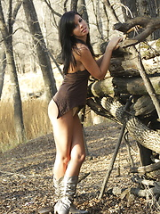 Gorgeous Destiny Moody gets a little tied up exploring an old Indian fort - Erotic and nude pussy pics at GirlSoftcore.com