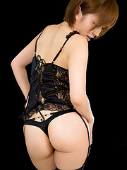 Oshiro Kaede in stockings - Erotic and nude pussy pics at GirlSoftcore.com