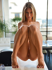 Super skinny babe Ebbi takes her time with sensual touches to her high tits and juicy bald pussy as she seeks ecstasy - Erotic and nude pussy pics at GirlSoftcore.com