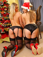 Jodie Gasson & Melissa D as sexy Santa's