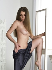 Soft, puffy lips and nipples, alluring blue eyes, and sensual and subtle erotic poses from an effortlessly beautiful model makes Tayla dreamy and alluring - Erotic and nude pussy pics at GirlSoftcore.com