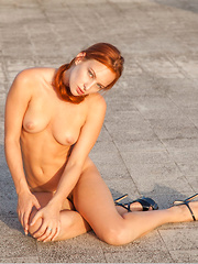 Sally A flaunts her hairy, red pussy - Erotic and nude pussy pics at GirlSoftcore.com