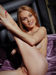 Nancy A's fun and charming energy as se enthusiastically undresses her lingerie dress to showcase her cute butt - Erotic and nude pussy pics at GirlSoftcore.com