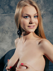 Nancy A's long and slender physique, gorgeously endowed breasts, and an attractive creamy and smooth complexion that is accentuated by her red-black lace panty and seductive, sultry  poses. - Erotic and nude pussy pics at GirlSoftcore.com