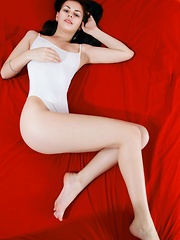 A raven-haired babe with delicate facial features, deep red lips, and long flowing hair, Karolina Young evokes fresh yet daring beauty - Erotic and nude pussy pics at GirlSoftcore.com