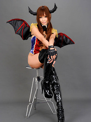 Sayuri Ono Asian in long boots is batwoman waiting for victims - Erotic and nude pussy pics at GirlSoftcore.com