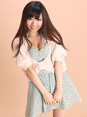 Mayuka Kuroda Asian in long socks and cute dress has big boobs - Erotic and nude pussy pics at GirlSoftcore.com