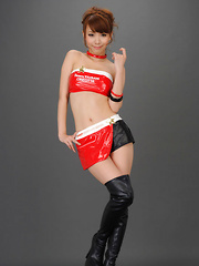 Ari Takada Asian in red black latex and long boots is so erotic - Erotic and nude pussy pics at GirlSoftcore.com