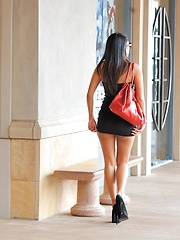 Shazia looks posh at the mall and flashes her ass - Erotic and nude pussy pics at GirlSoftcore.com