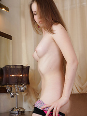 Victoriya A shows off her puffy nipples and hairy pussy - Erotic and nude pussy pics at GirlSoftcore.com