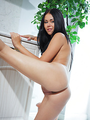 Macy B shows off her exquisitely tanned complexion and yummy body - Erotic and nude pussy pics at GirlSoftcore.com