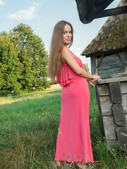 Arina G carefree allure, natural beauty, and sweet smile in a countryside shoot - Erotic and nude pussy pics at GirlSoftcore.com