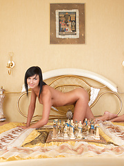Sexy chess game with brunette - Erotic and nude pussy pics at GirlSoftcore.com