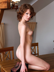Sexy black lingerie tease - Erotic and nude pussy pics at GirlSoftcore.com