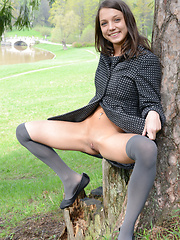 Blue eyed brunette girl - Erotic and nude pussy pics at GirlSoftcore.com