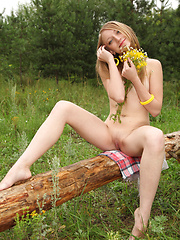 Awesome girl in nature