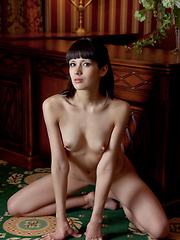 Alluring and tempting with seductive   face framed by well-cropped bangs,   poses sensually showcasing Luiza\'s   athletic build, enviable long limbs,   and perky nipples. - Erotic and nude pussy pics at GirlSoftcore.com