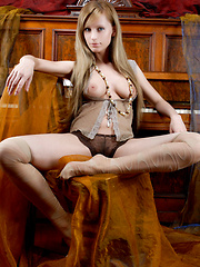 Pale complexion with exquisite details,   generously endowed knockers, tight   slender body, enviable long legs, and an   irresistable allure, there are lot to   love about the stunning Gisele. - Erotic and nude pussy pics at GirlSoftcore.com