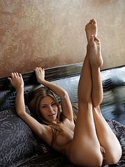 Nubile Ebbi is the image of perfection as she rubs her soft pussy - Erotic and nude pussy pics at GirlSoftcore.com