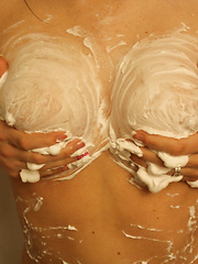 Shaving Cream - Erotic and nude pussy pics at GirlSoftcore.com
