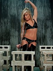 Leather And Chains - Erotic and nude pussy pics at GirlSoftcore.com