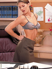 Treasure - Hot and heavy in the office - Erotic and nude pussy pics at GirlSoftcore.com