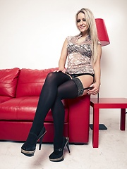 Leather, lace and leopard print - Erotic and nude pussy pics at GirlSoftcore.com