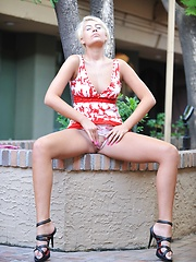 Danica gets naked in public - Erotic and nude pussy pics at GirlSoftcore.com