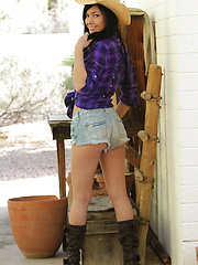 Saddle up boys! Cowgirl Catie Minx is looking for something big to ride tonight! - Erotic and nude pussy pics at GirlSoftcore.com