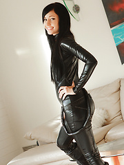 Cute Catie Minx channels her comic book here the villainous slut Catwoman