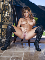 Keisha Grey plays with her sexy nipples - Erotic and nude pussy pics at GirlSoftcore.com