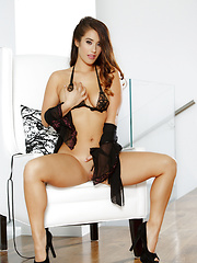 Eva Lovia shows you that sweet shaved pussy of hers - Erotic and nude pussy pics at GirlSoftcore.com