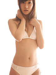 Kana Yuuki Asian shows fit curves in white lingerie before sauna - Erotic and nude pussy pics at GirlSoftcore.com