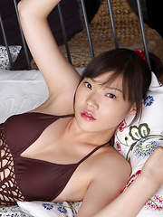 Airi Sakuragi Asian with sexy lips has spicy curves in bath suit - Erotic and nude pussy pics at GirlSoftcore.com