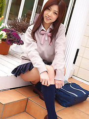 Azusa Togashi is hot sweetie with pretty face and teen body - Erotic and nude pussy pics at GirlSoftcore.com