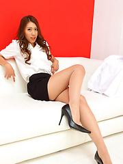 Elegant Reika Miki inspires us in sexy shirt and hot high heels - Erotic and nude pussy pics at GirlSoftcore.com
