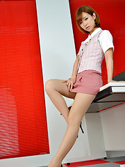 Ichika Nishimura Asian proudly shows sexy legs under short skirt - Erotic and nude pussy pics at GirlSoftcore.com